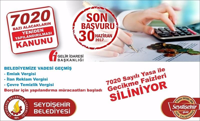 7020 Sayılı Yasa ile vergi borçlarının yeniden yapılandırılması